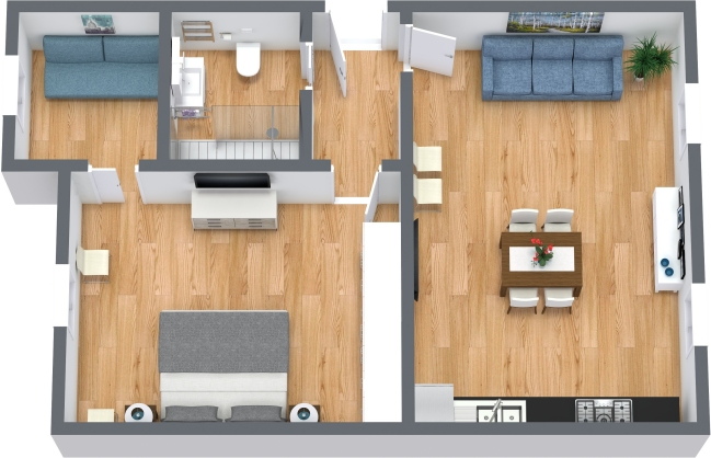 Planimetrics Apartment N.439