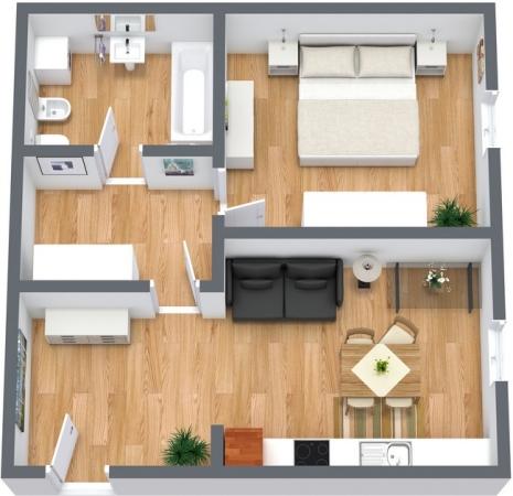 Planimetrics Apartment N.55