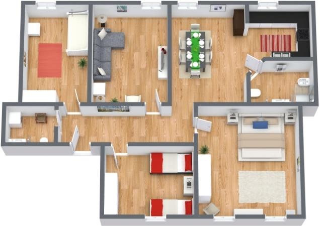 Planimetrics Apartment N.73